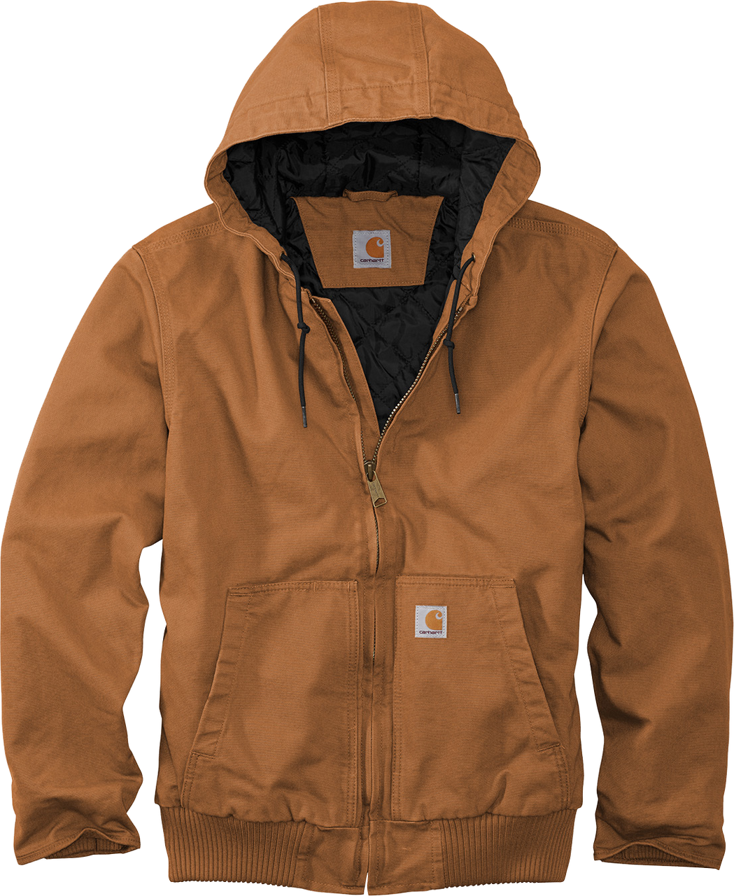 CT104050 Carhartt Brown Washed Duck Active Jacket front view