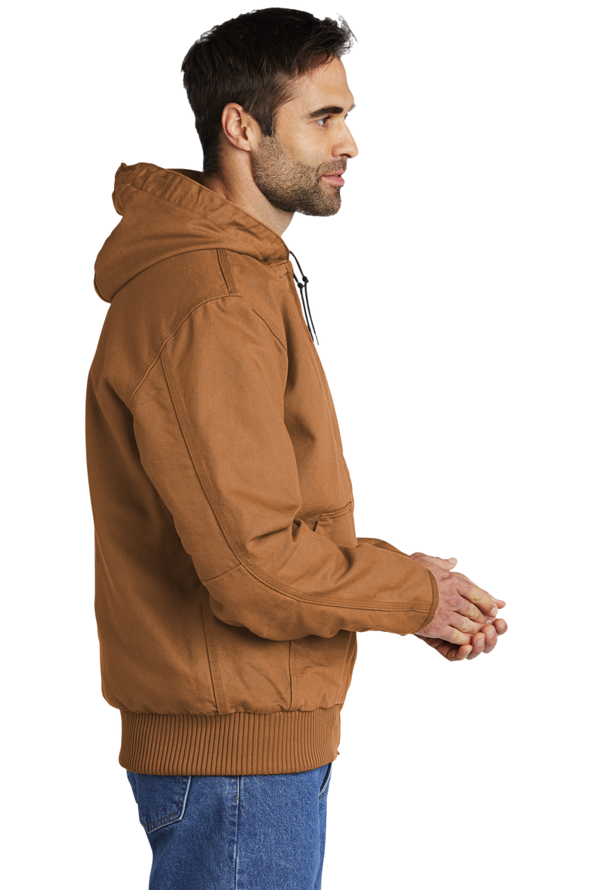 CT104050 Carhartt Brown Washed Duck Active Jacket side view