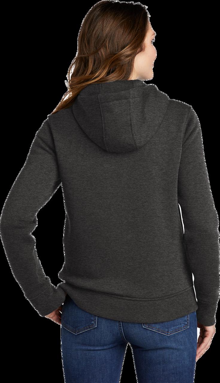 2788 Womens Navy Clarksburg Full-Zip Hoodie model quarter view