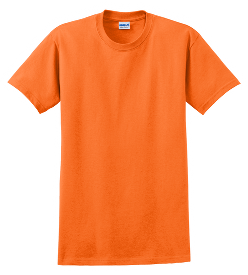G2000 Safety Orange T-Shirt Short Sleeve by Gildan