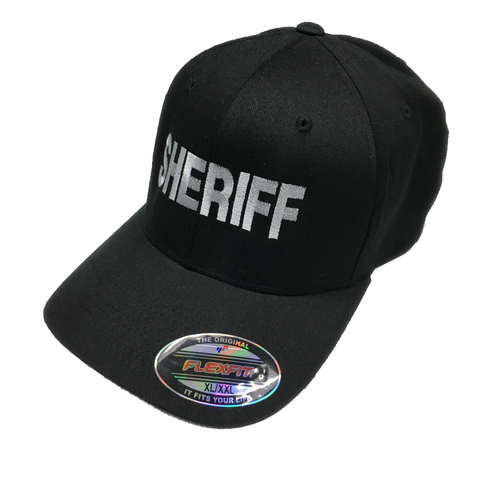 """Sheriff"" in Teardrop Grey on Black"