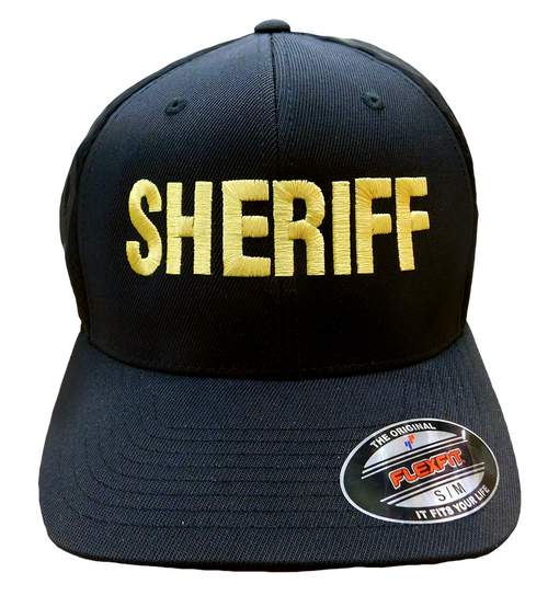 """Sheriff"" in Gold on Black"