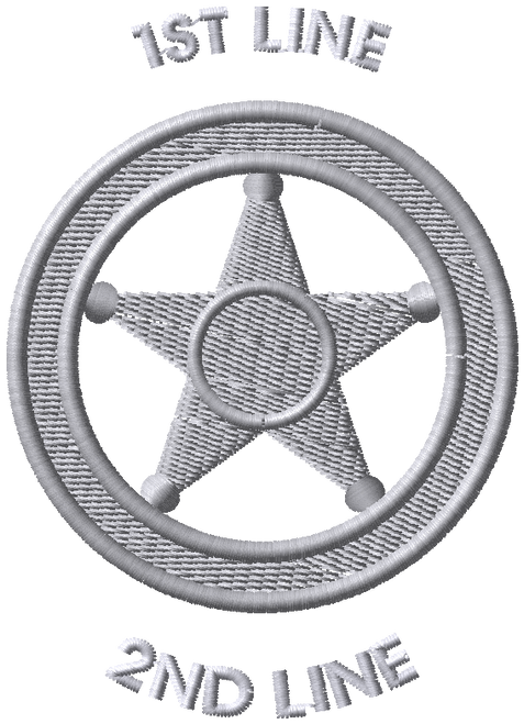 DECO-STK-EMB-LE-BADGE- 5PT-STAR-CIRCLE-SILVER-1