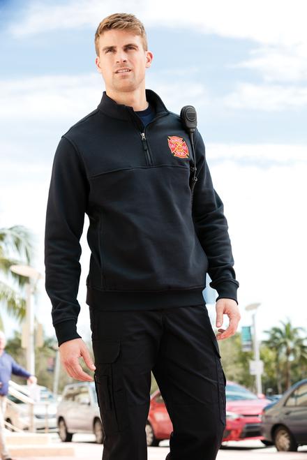 Model wearing a CS626 in Dark Navy