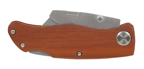 "Knf-Sgl-4-Utl - 4"" Wood Handle Utility Knife"