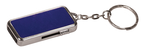 "8MEM008 - 3/4"" x 1 1/2"" x 1/4"" 8GB Metal USB Flash Drive with Keychain"