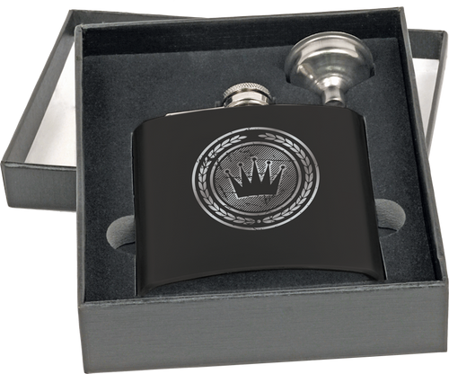 FSK671-75 - 6 oz. Flask Set in Black Presentation Box