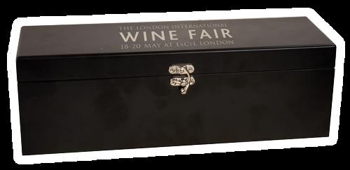 WBX21 - Matte Black Finish Single Wine Box with Tools