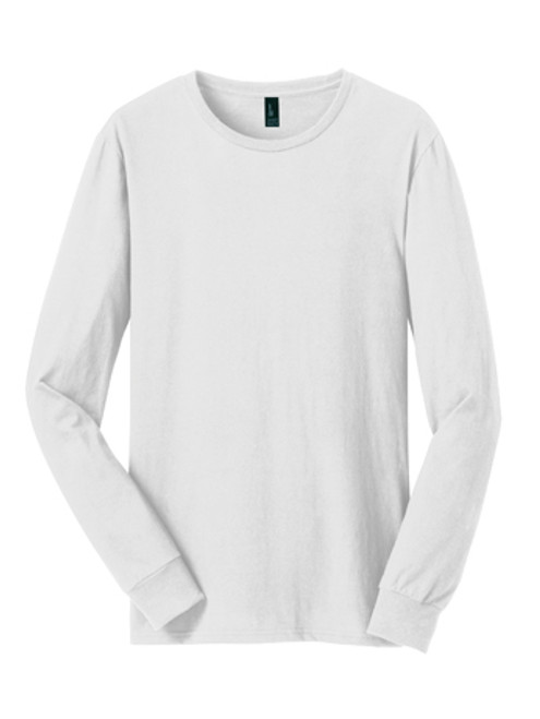 DT5200: Young Mens The Concert Tee® Long Sleeve by District® in White