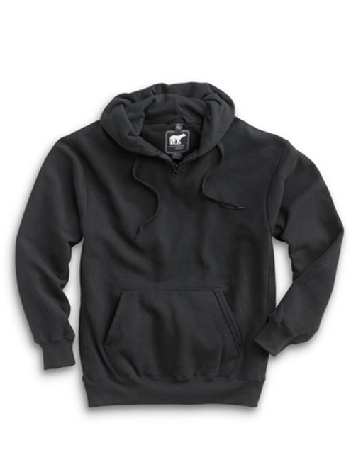 1000: Heavyweight Hoody by White Bear™ Clothing Co. in Black