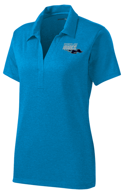 AQ-LST660: Ladies Heather Contender Embroidered Polo by Sport-Tek