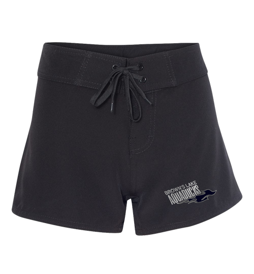 AQ-5371: Women's Stretch Diamond Dobby Embroidered Board Shorts by Burnside