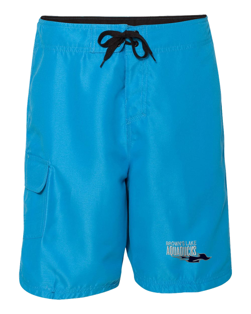 AQ-9301: Solid Embroidered Board Shorts by Burnside