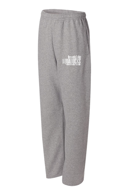 AQ-974MPR:  NuBlend Open Bottom Pocketed Sweatpants by Jerzees