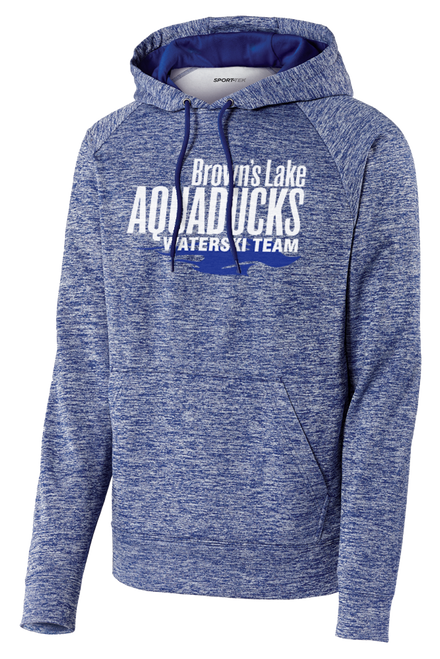 AQ-ST225: PosiCharge Electric Heather Fleece Hooded Pullover by Sport-Tek