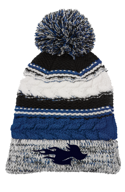 AQ-STC21: Pom Pom Embroidered Team Beanie by Sport-Tek