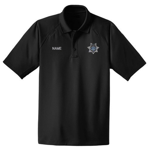 RASO-CS410-COR-OFFICER: Men's Officer Polo in Black