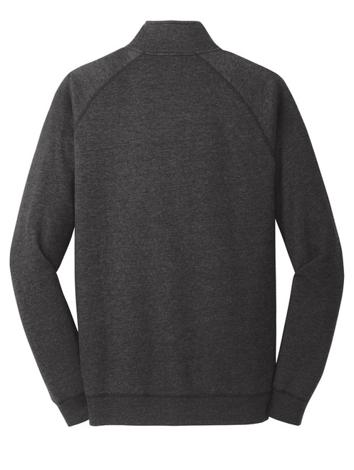 AQ-DM392: Unisex Heathered Black Lightweight Fleece 1/4-Zip by District