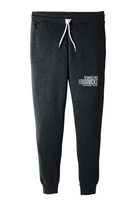 AQ-BC3727:  Unisex Black Jogger Sweatpants by Bella+Canvas