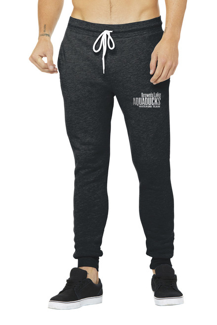 AQ-BC3727:  Unisex Black Jogger Sweatpants by Bella+Canvas