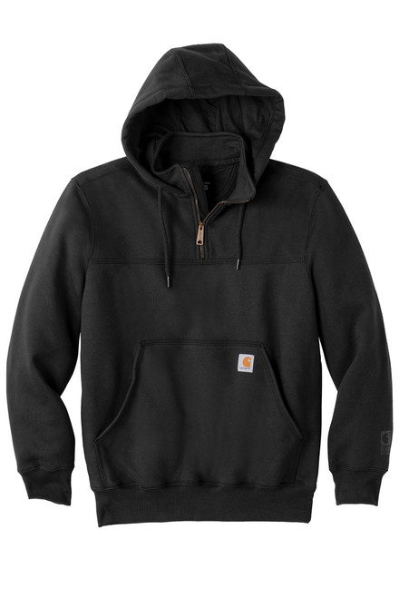 CT100617 Black Front Rain Defender Heavyweight Hooded Zip Sweatshirtby Carhartt