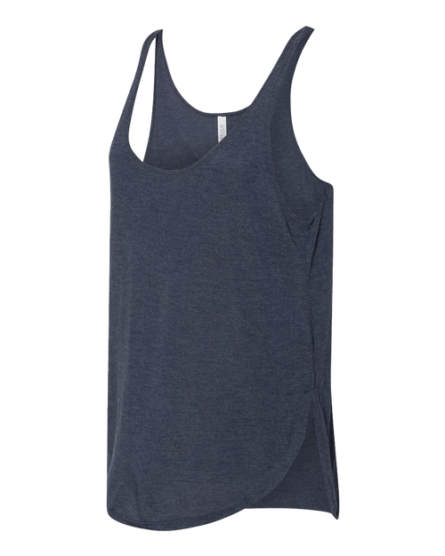 AQ-8802 Heather Navy Women's Flowy Tank by Bella