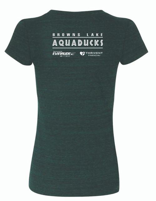 AQ-8413-SOJ: Womens Emerald Triblend T by Bella Canvas