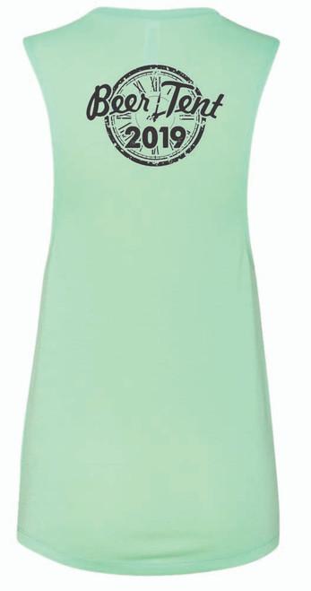 AQ-8803-BT: Womens Mint Flowy Scoop Muscle Tank by Bella Canvas