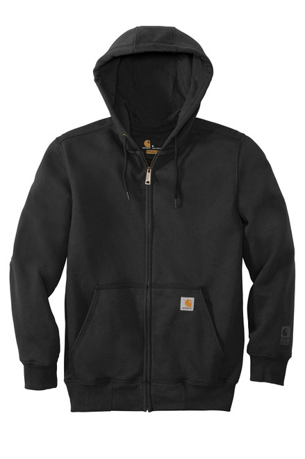 Black Carhartt Rain Defender Paxton 13oz Hoodie with Full Zip