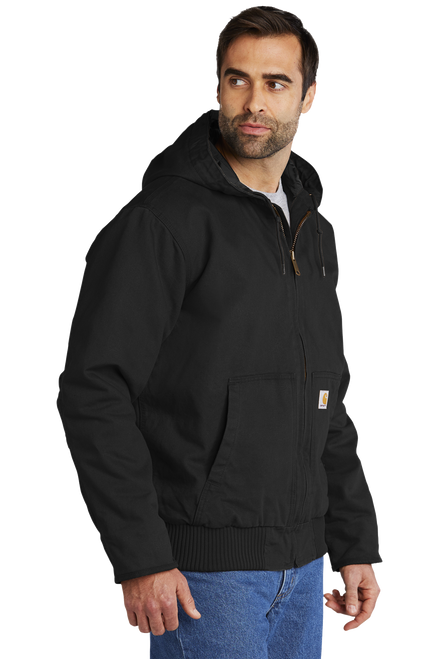 CT104050 Black Washed Duck Active Jacket 3Q Model