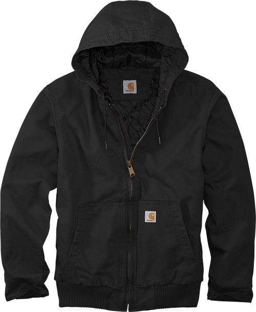 CT104050 Black Washed Duck Active Jacket front view