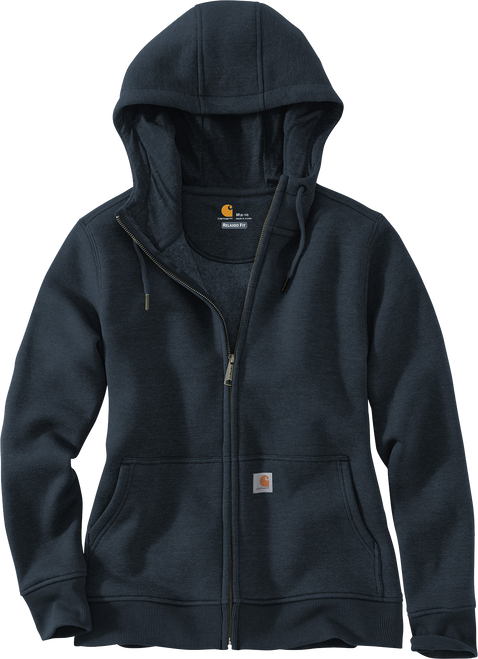CT102788 Womens Navy Clarksburg Full-Zip Hoodie front view