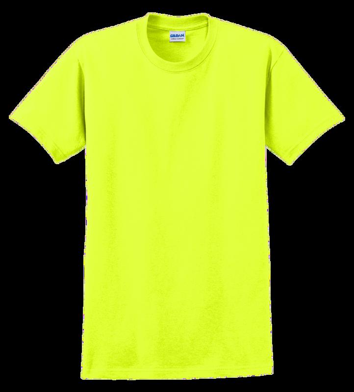 G2000T Safety Green T-Shirt Short Sleeve Tall by Gildan
