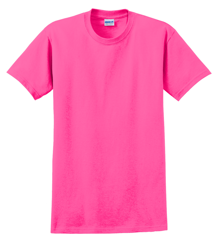 G2000B Safety Pink Youth T-Shirt Short Sleeve by Gildan