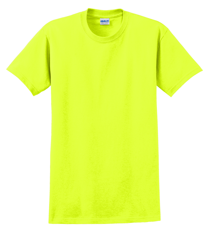 G2000B Safety Yellow Youth T-Shirt Short Sleeve by Gildan