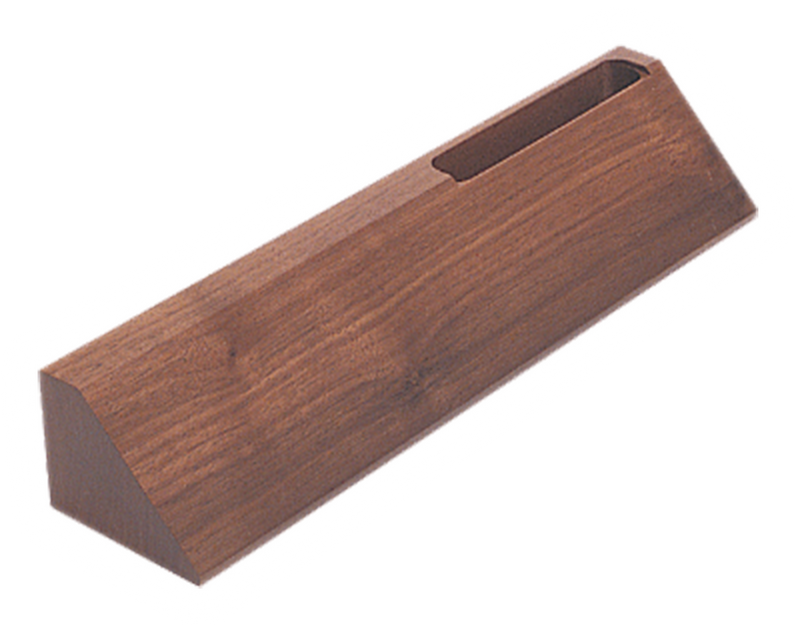 "DS20: 10"" Walnut Desk Wedge with Business Card Holder"