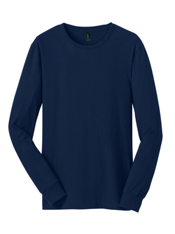 DT5200: Young Mens The Concert Tee® Long Sleeve by District® in New Navy