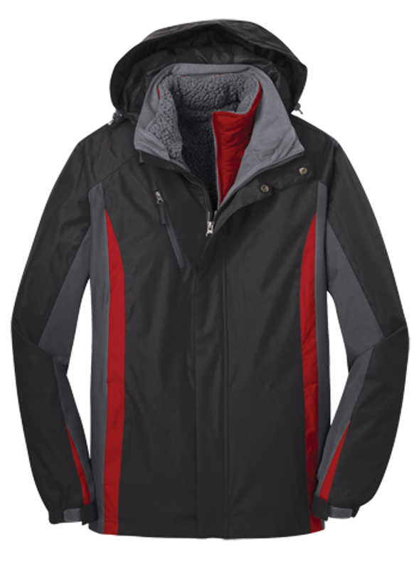 J321 in Black/Magnetic Grey/Signal Red