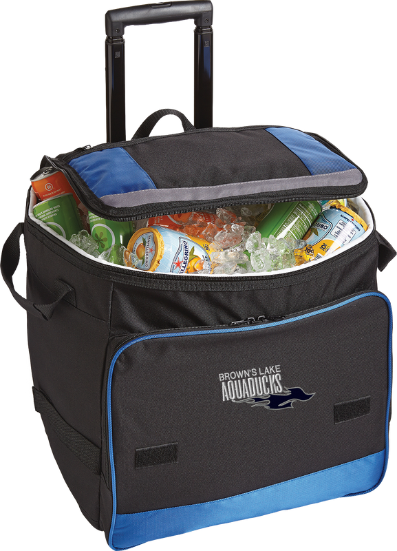 AQ-BG119 Royal Blue Rolling Cooler by Port Authority