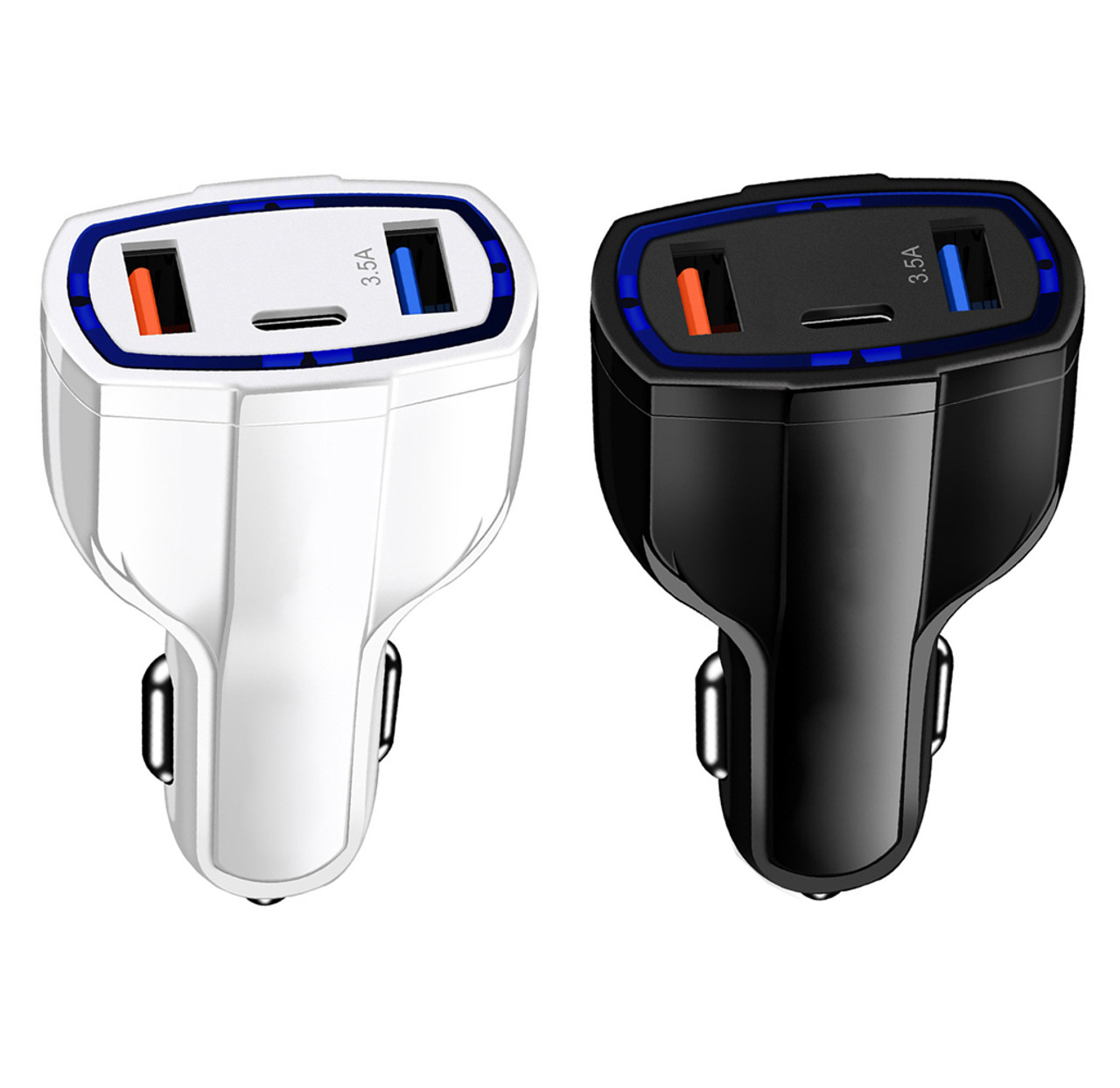 3-Port Fast Charge 3.0 Car Charger