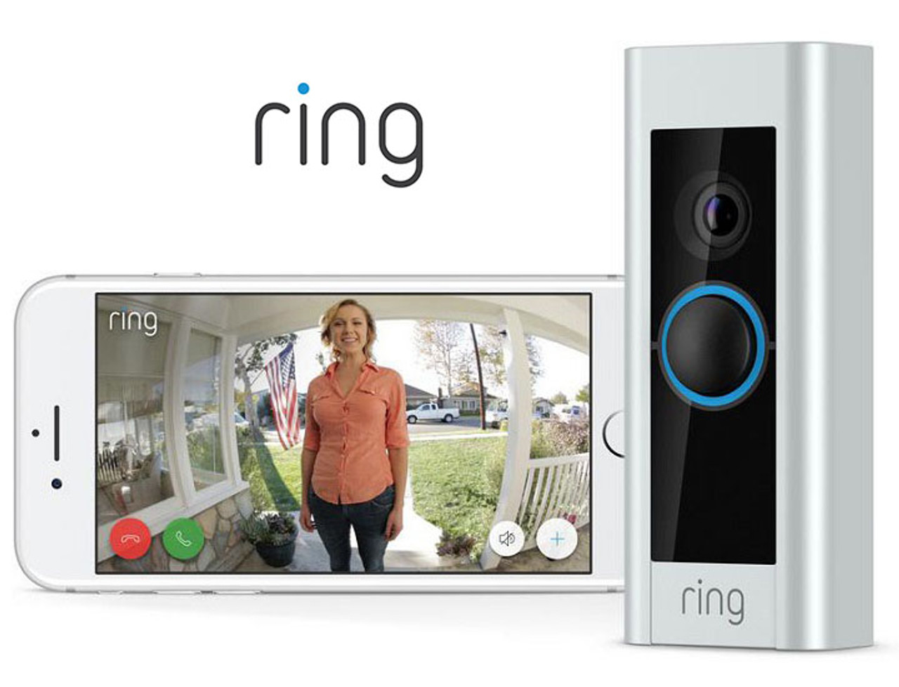 Ring Video Doorbell Pro with 1080P HD Video & Motion Alerts $109.99 (63% OFF)