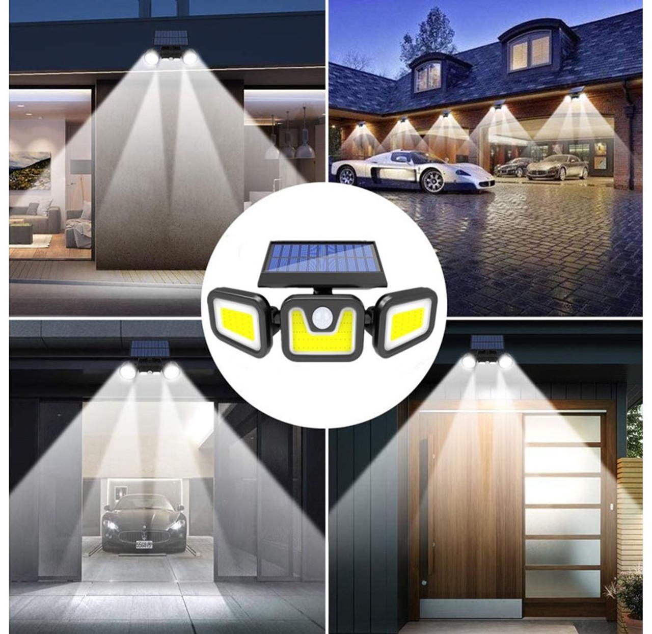 Solar 3-Head Rotatable Split Motion Sensor Lamp $25.99 (71% OFF)