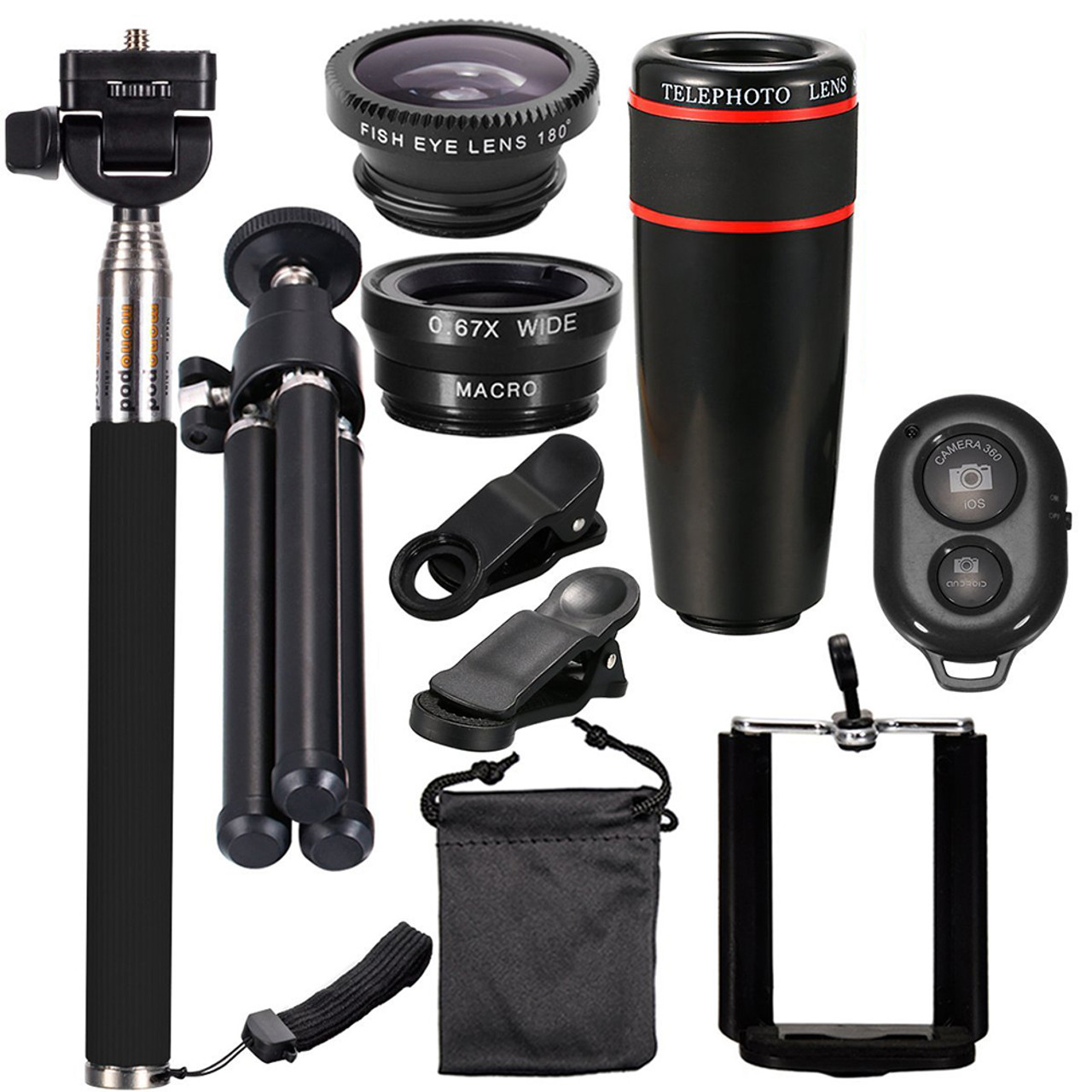 10-in-1 Smartphone Tripod and Lens Bundle $11.99 (94% OFF)