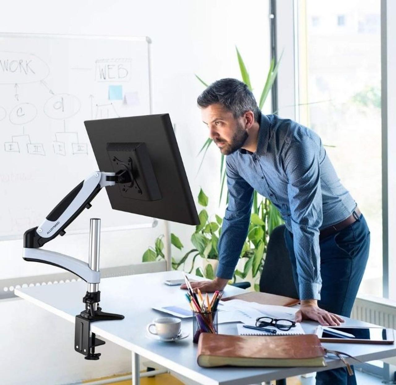 Adjustable Monitor Riser with VESA Mount and Desk Clamp! .99 (REG .99) at Until Gone!