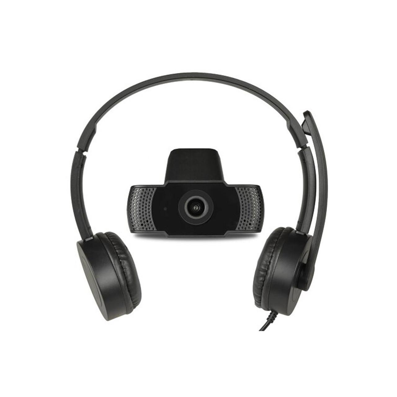 USB Online Meeting FHD USB Webcam & Stereo Headset Kit