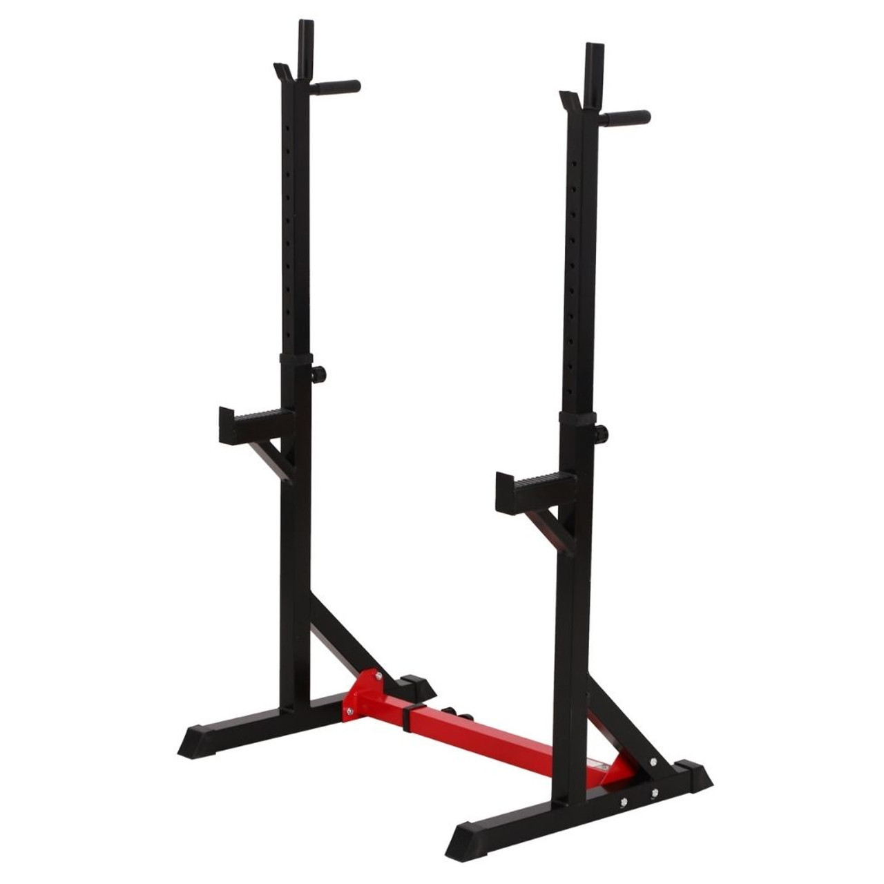 2-Piece Adjustable Barbell Squat Rack and Bench Press