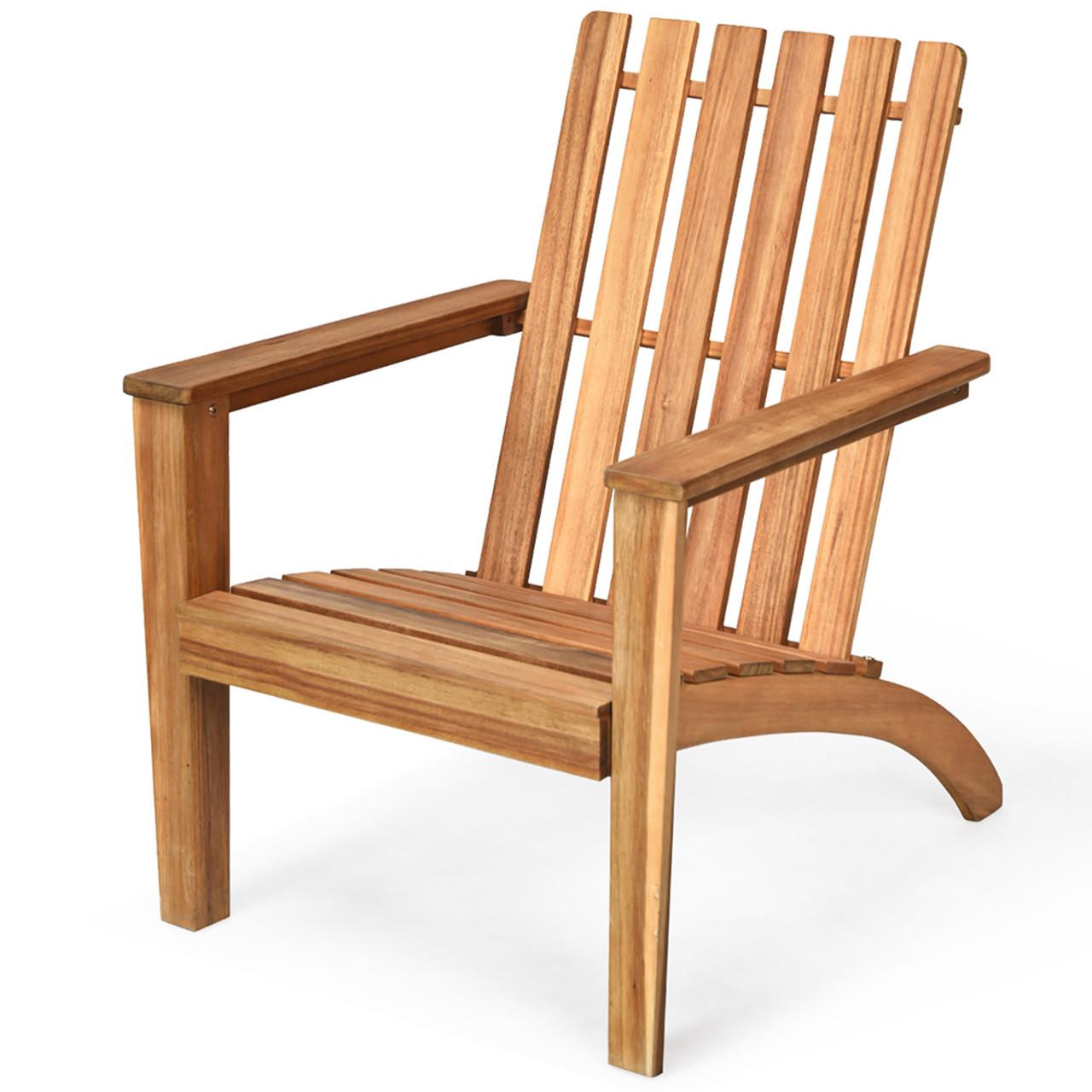 Costway Patio Acacia Wood Adirondack Chair