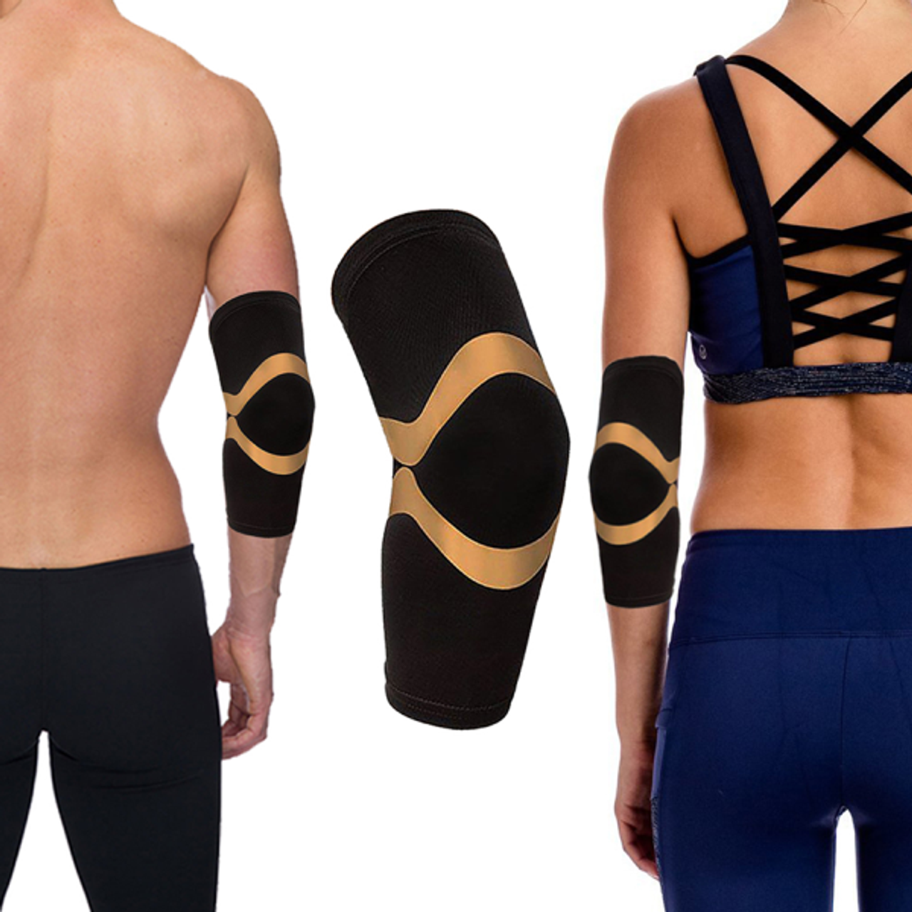 Copper Compression Support and Recovery Elbow Sleeve