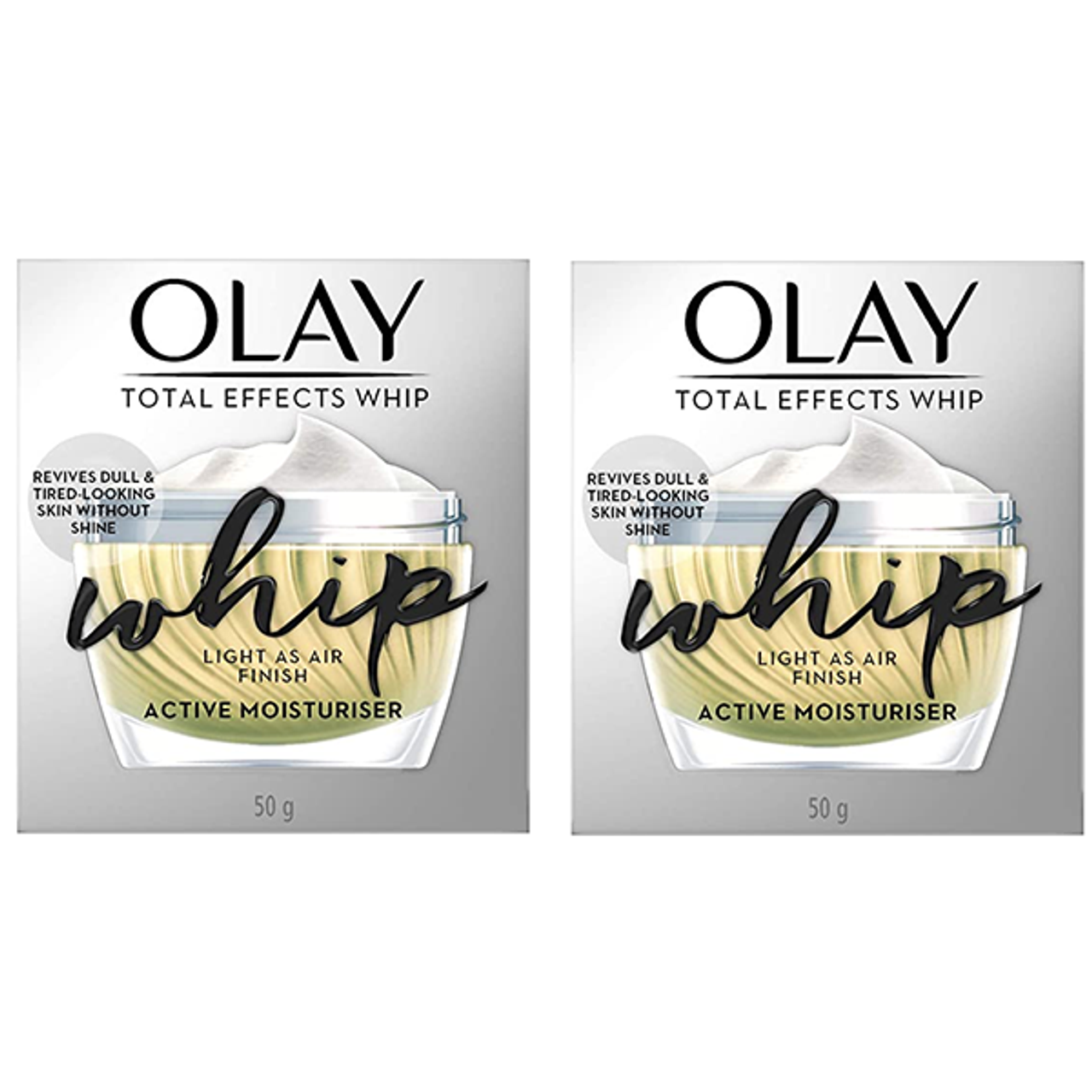 Olay Total Effects Whip Active Moisturizer, 1.7 oz. (2-Pack) $28.99 (63% OFF)