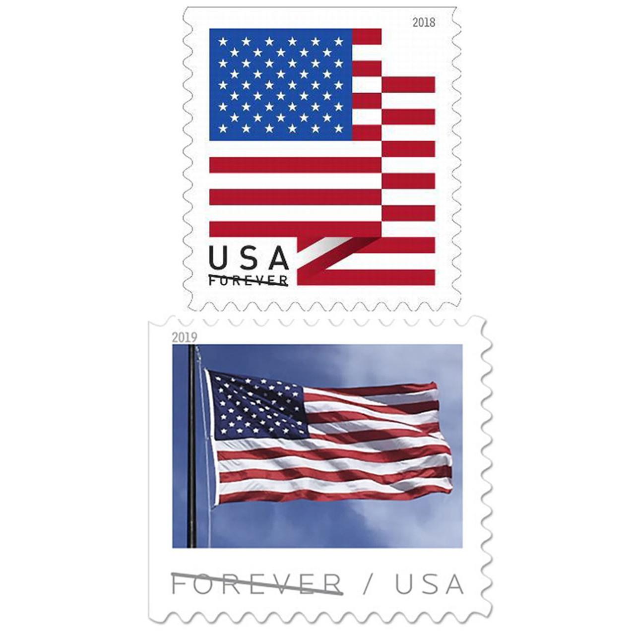 USPS® Forever Stamps 2018 or 2019 U.S. Flag (100-Pack) $47.99 (20% OFF)